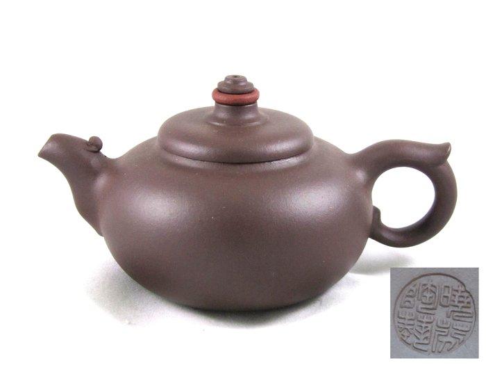 [[ 茶壺 ]] 紫砂 圓線花管壺(No.32) 早期購入,喜歡就帶走