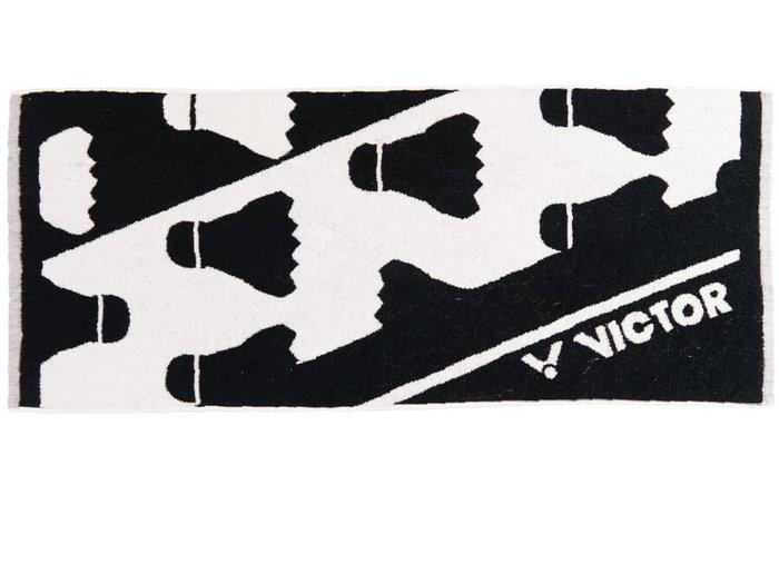 ◇ 羽球世家◇【運動毛巾】勝利運動毛巾 C-4158 C黑色《100%純棉》VICTOR 毛巾 吸濕