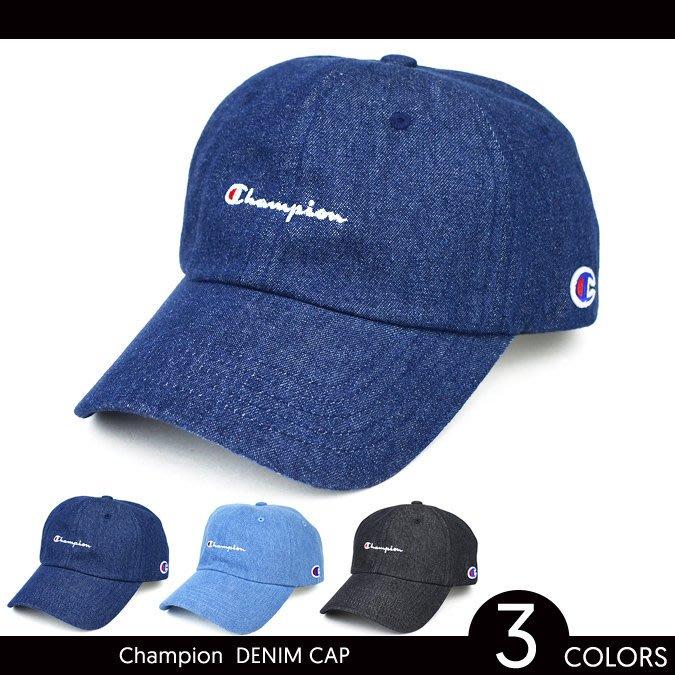 Champion logo cap 老帽 棒球帽 單寧 牛仔 日本超人氣款  ♡LUCI日本代購♡空運[ ]