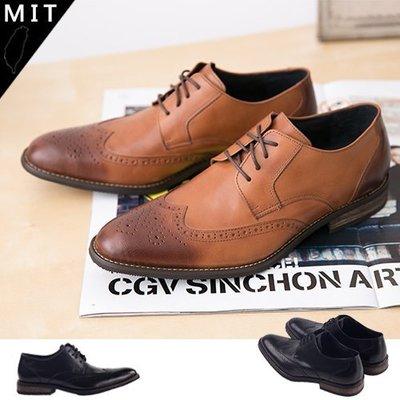 Ovan 男款 英式尊爵雕花牛津木紋跟 MIT手工質感皮鞋 牛津鞋 樂福鞋 紳士鞋 尖頭鞋