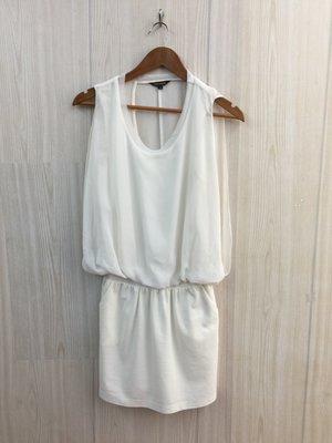 【愛莎&嵐】niceioi 女 白色U領無袖洋裝 / S  1090806