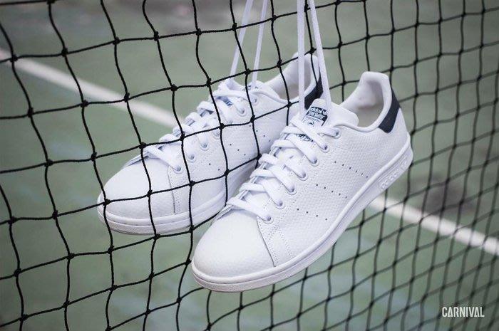 【豬豬老闆】ADIDAS ORIGINALS STAN SMITH 白藍 編織紋路 軟木塞 休閒 男女鞋 S76582