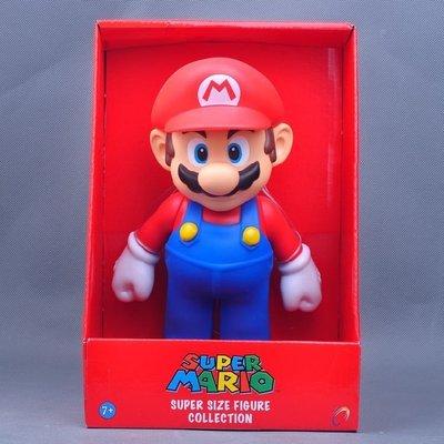 超級瑪利歐兄弟 超級瑪莉歐 遊戲周邊9寸可動搪膠模型公仔禮物 2款單價390元下標留言款式