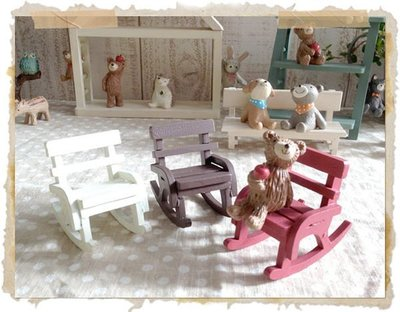 艾苗小屋-日本進口 miniature 搖椅