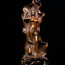 隆重登場~~【收藏好物】~ 上海華寶樓木雕名店 珍藏釋出---典藏級精品 黃楊木精雕 【侍女】