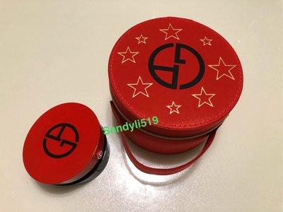 Giorgio Armani ?亞曼尼 復古星星手提包 盒裝 另售亞曼尼訂製紅 訂製絲光精華氣墊粉餅