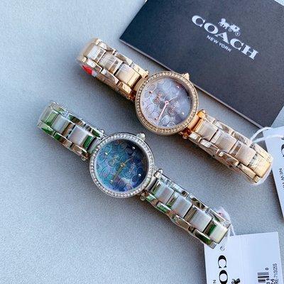㊣國際品牌COACH庫㊣ COACH 14503224 14503226【2件免運】新款貝殼錶面女錶 時裝錶精鋼錶帶手錶
