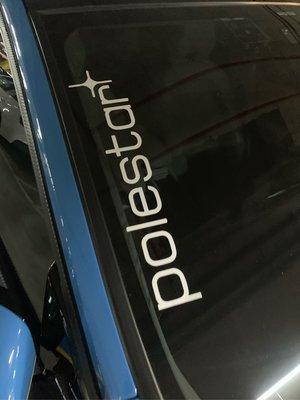 VOVO 車系 禦用品牌型像貼polestar前檔貼紙