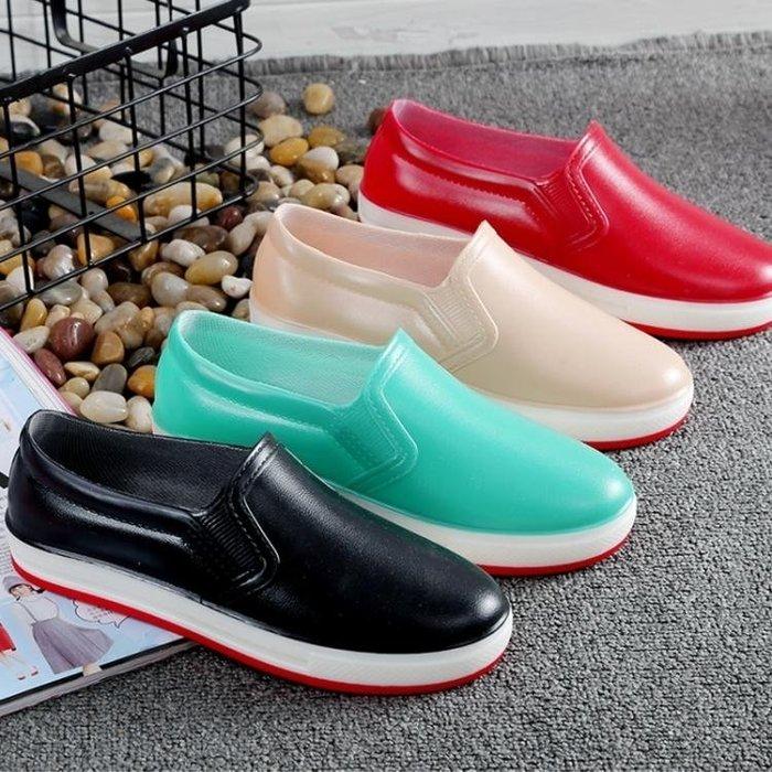 雨靴 夏季雨鞋女時尚低幫防水鞋學生休閒淺口透氣防滑廚房工作膠鞋 全館免運
