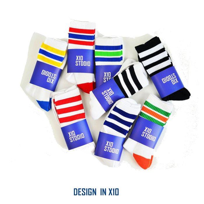 ---X10---  2019  台灣製  Cotton sock   八色  毛巾底  滑板襪 中筒襪 透氣  條紋