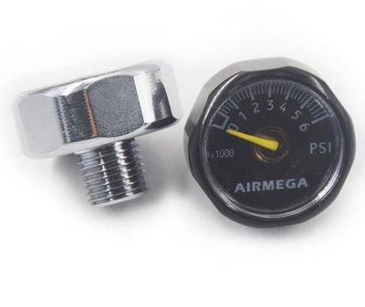 PCP 高壓壓力表 定壓閥 直噴閥 漆彈槍 壓力錶 6000psi