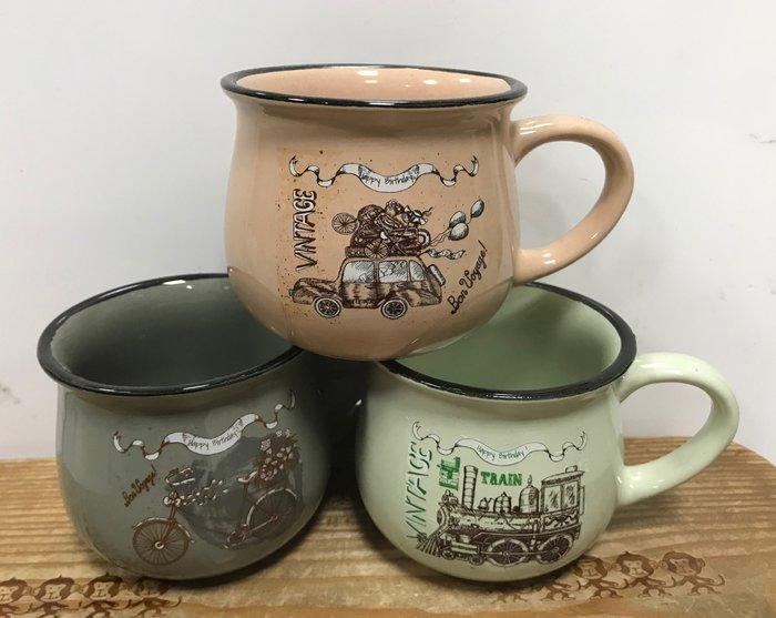 【無敵餐具】陶瓷雙色和風馬克杯/胖胖杯(220cc)馬克杯/咖啡杯/zakka風 量多歡迎詢價【A0018】