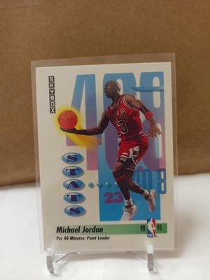 Jordan 1991 SKYBOX 美卡 喬丹 #307 老卡 新拆出來  可拼鑑定