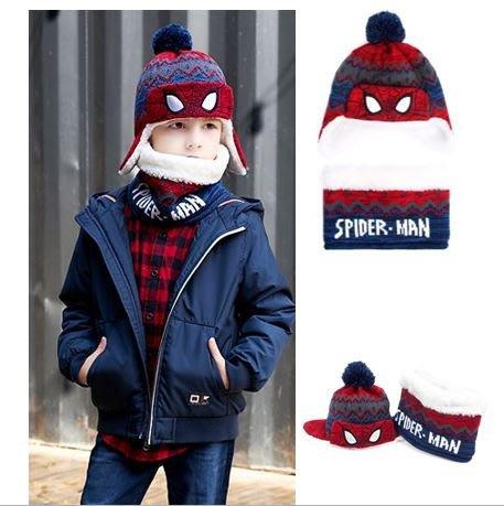 『※妳好,可愛※』妳好可愛韓國童鞋  韓國 Winghouse 蜘蛛人帽子+脖圍套組 兒童帽子 圍巾 脖圍 圍脖