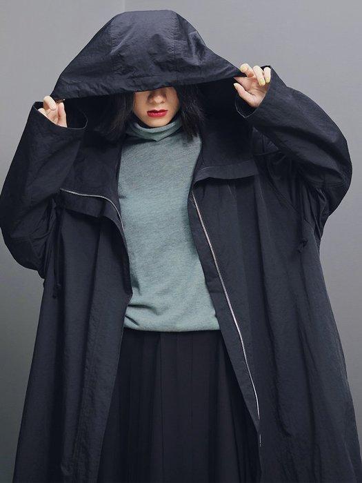 Dark.Q DQ 暗黑BF山本風衣長版連帽外套