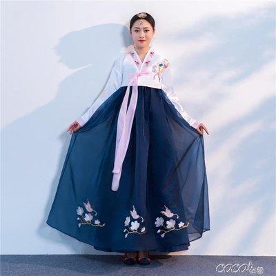 古裝 新款改良朝鮮服族刺繡花韓服女日常...