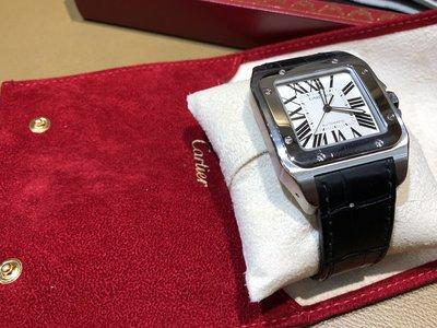 《降降》Cartier 卡地亞‧世界頂級鐘錶Cartier 卡地亞 Santos 100系列 自動機械錶~瑞士製造