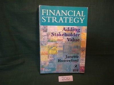 【愛悅二手書坊 03-10】Financial Strategy, Financial Strategy: Adding Stakeholder Value