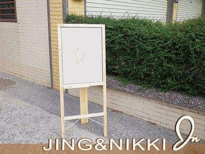 黑板/白板【單面白板告示牌】店面廣告看板 A字板 磁性黑板 台南黑板 客製化黑板 木框白板 *JING&NIKKI