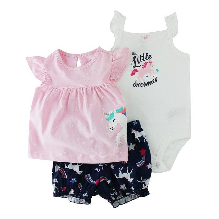 ♡NaNa Baby♡ 美國 Carter's 套裝三件組 - 獨角獸