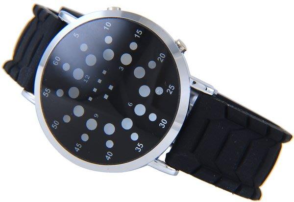 @(六四三精品)@BETHOVEN(真品)圓型LED燈型精準手錶.矽膠錶帶!