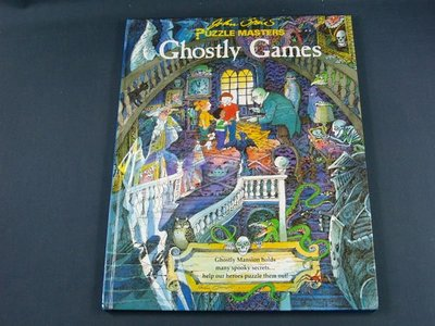 【懶得出門二手書】PUZZLE MASTERS : Ghostly Games 英文遊戲謎題書(11A31)