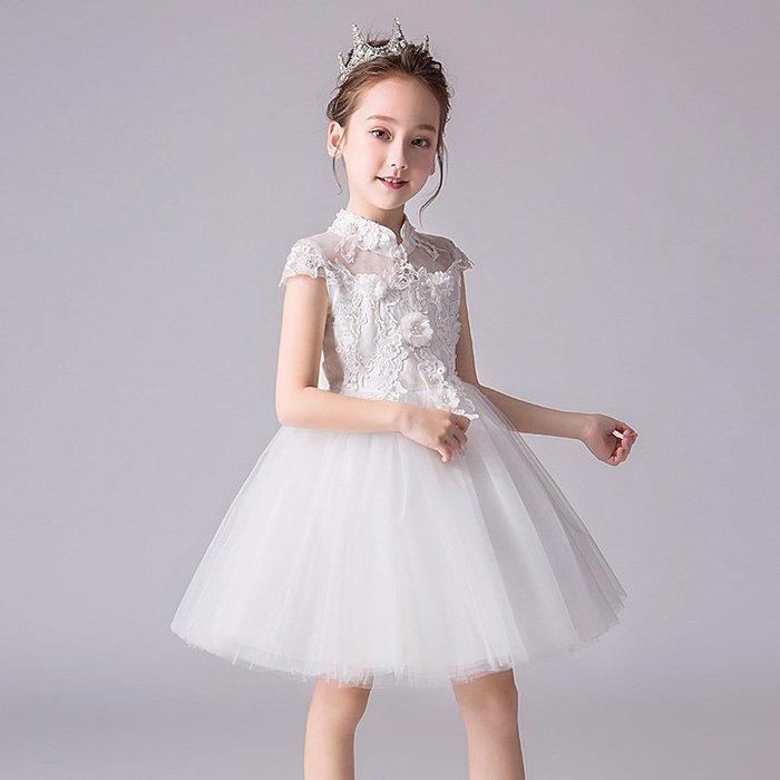 •*~ 辣媽咪衣飾小舖 ~*•❤童裝系列❤K980468韓版大童夏款甜美清新時尚蓬蓬蕾絲亮片可愛公主禮服公主洋裝