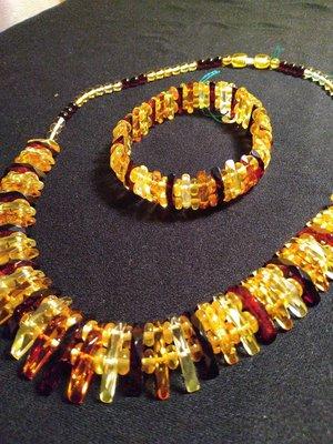 🇱🇹立陶宛琥珀項鍊、手鍊精品組