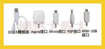 #網路大盤大#  USB充電線--內附iPhone4、HTC、PSP、MINI 5P接頭--適用行動電源