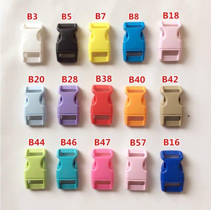 吖吖雜貨店*15mm 彩色塑膠插扣 DIY飾品配件 手繩材料包子母扣 傘繩手鏈 卡扣(現貨)