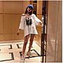 【齊軒堂】時尚韓版印花款式T恤上衣 短袖 大尺碼衣著  L-4XL