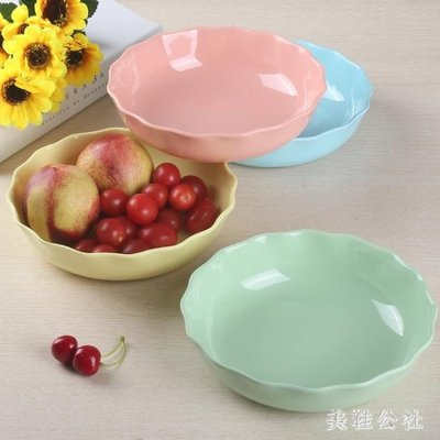 時尚創意歐式密胺塑料水果盤糖果零食果盆干果盤家用客廳北歐圓形 st3892