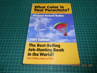 《What Color Is Your Parachute?》七成新 2001 Edition 些微黃斑,外觀角微損