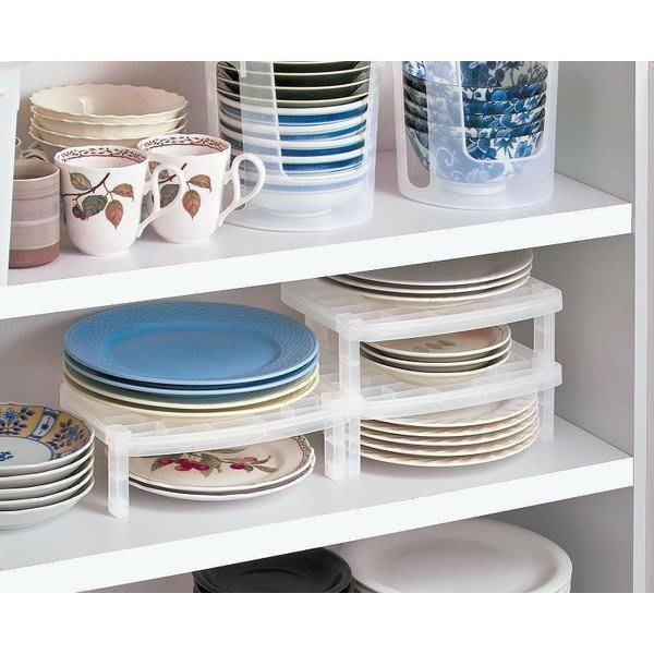 [霜兔小舖]日本代購 日本製 可疊加盤子  碗盤架子 置物架 收納架 分層架