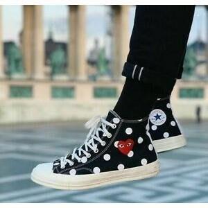 【老鞋頭】 Converse 1970s X comme des garcons polka CDG 聯名 熊貓 黑 點