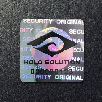 雷射標籤 防偽標籤貼紙 雷射商標 【具防拆功能】【1000張】【客製印刷logo】地球 RT-16