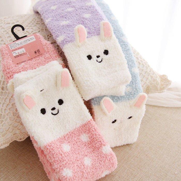 嘉芸的店 日本卡通軟綿綿萌兔 48CM保暖加長型護膝 秋冬長款 保暖襪套 精緻襪套 日本護膝