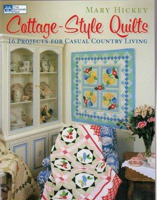 【傑美屋-縫紉之家】美國拼布書籍~Cottage - Style Quilts拼布風格小屋 #3068