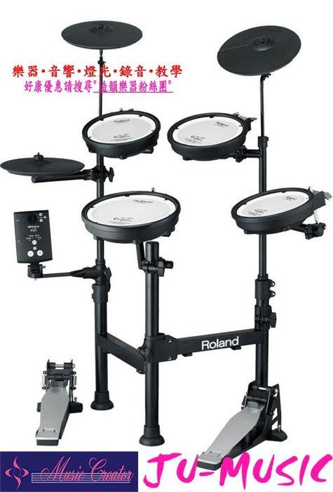 造韻樂器音響- JU-MUSIC - 最新 Roland V-Drums TD-1KPX 攜帶型 電子鼓 TD1KPX