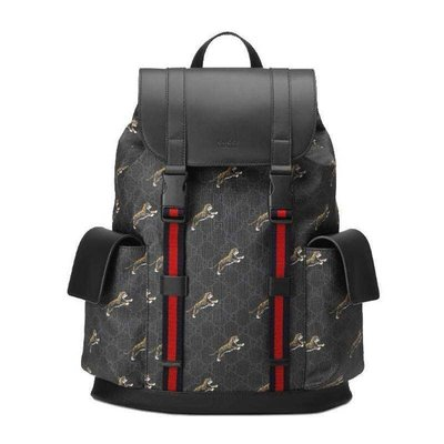[4real]Gucci Supreme 系列 滿版老虎 後背包