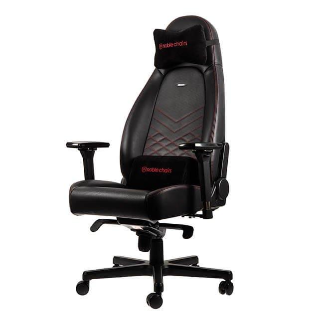 《瘋椅世界》德國電競品牌 noblechairs 皇家 ICON系列 電競椅 賽車椅 PU皮 尊爵款 黑/紅 來店購享好禮