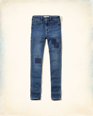 【天普小棧】HOLLISTER HCO High Rise Super Skinny Jeans高腰緊身牛仔褲3/w26