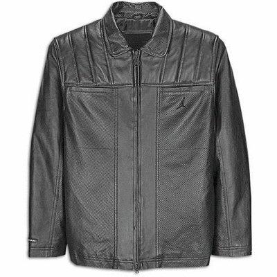 MJ 喬丹皮衣外套-Jordan Men's Jumpman Moto Leather Jacket