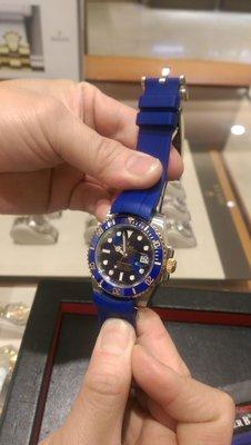 [橙園]ROLEX RUBBER B M106 藍色膠帶 購於寶富