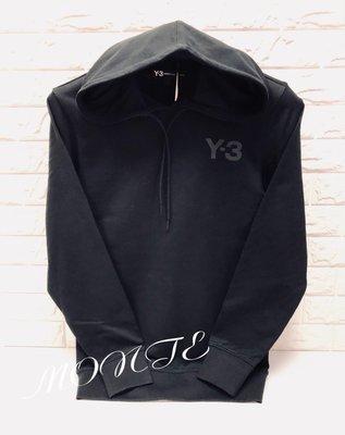 Y3 2018 秋冬新款 CY6896 帽T 蒙特歐洲精品