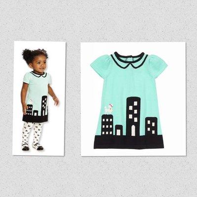 美國童裝GYMBOREE正品 Poodle City Dress 貴賓狗城市連身裙洋裝12~18~24m  售250元