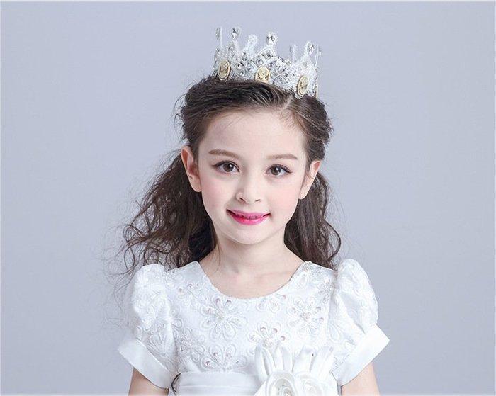 【衣Qbaby】女童髮飾女童禮服婚纱裙皇冠表演頭飾精品水鑽髮飾