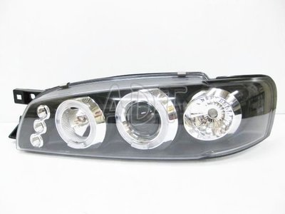 ~~ADT.車燈.車材~~大慶 IMPREZA GC8 GF8 92~00 光圈魚眼黑大燈+紅心圓黑底尾燈
