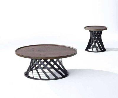 [歐瑞家具]GL-06-1  台灣製造實木圓小茶几/大茶几/大台北地區/系統家具/沙發/床墊/茶几/高低櫃/1元起