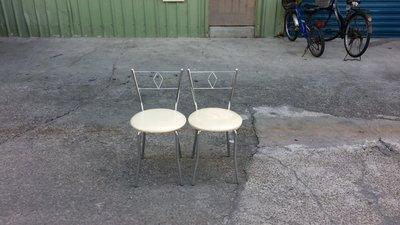 【安鑫】土城二手家具~全新品!簡約鐵製皮面餐椅 書桌椅 化妝椅 休閒椅 【A963】